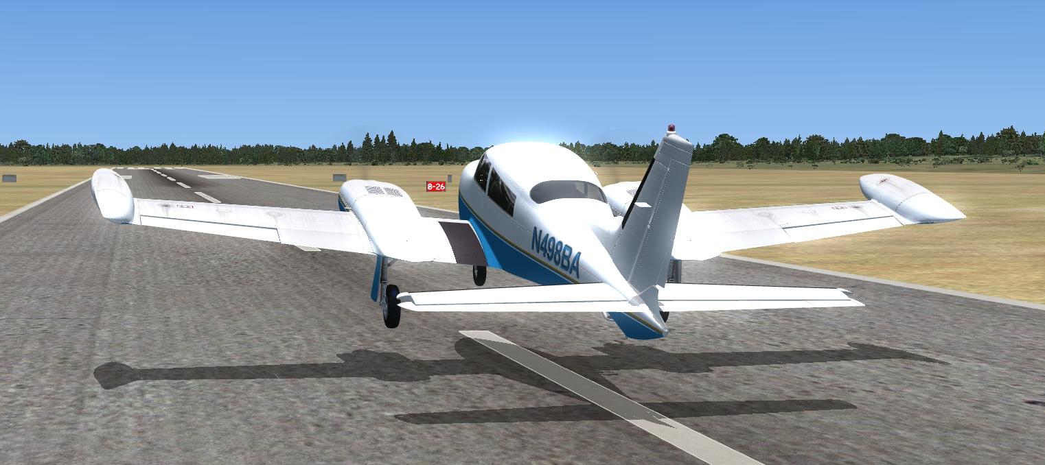 MilViz Cessna 310R on final approach!